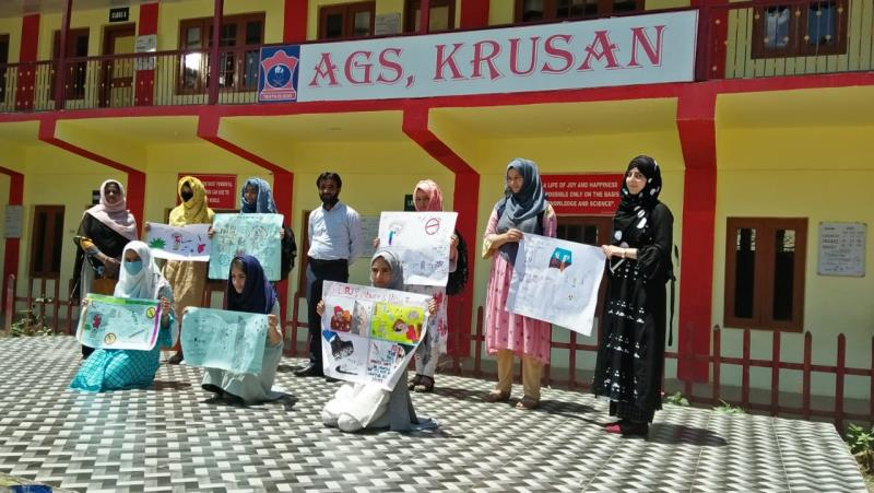 Painting competition on the occasion of International Day Drug abuse on 25 Jun 20 at AGS Krusan